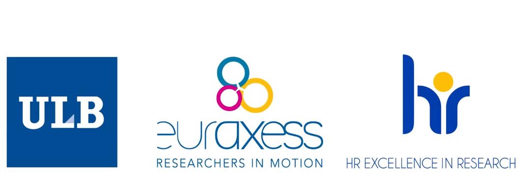 Logo ULB, EURAXESS et Label HR