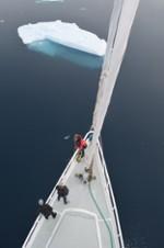 Proue du voilier (Belgica121)